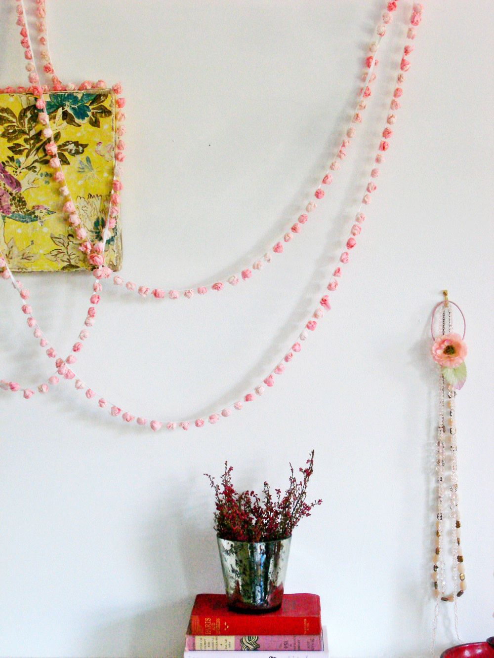 Faded pink garland