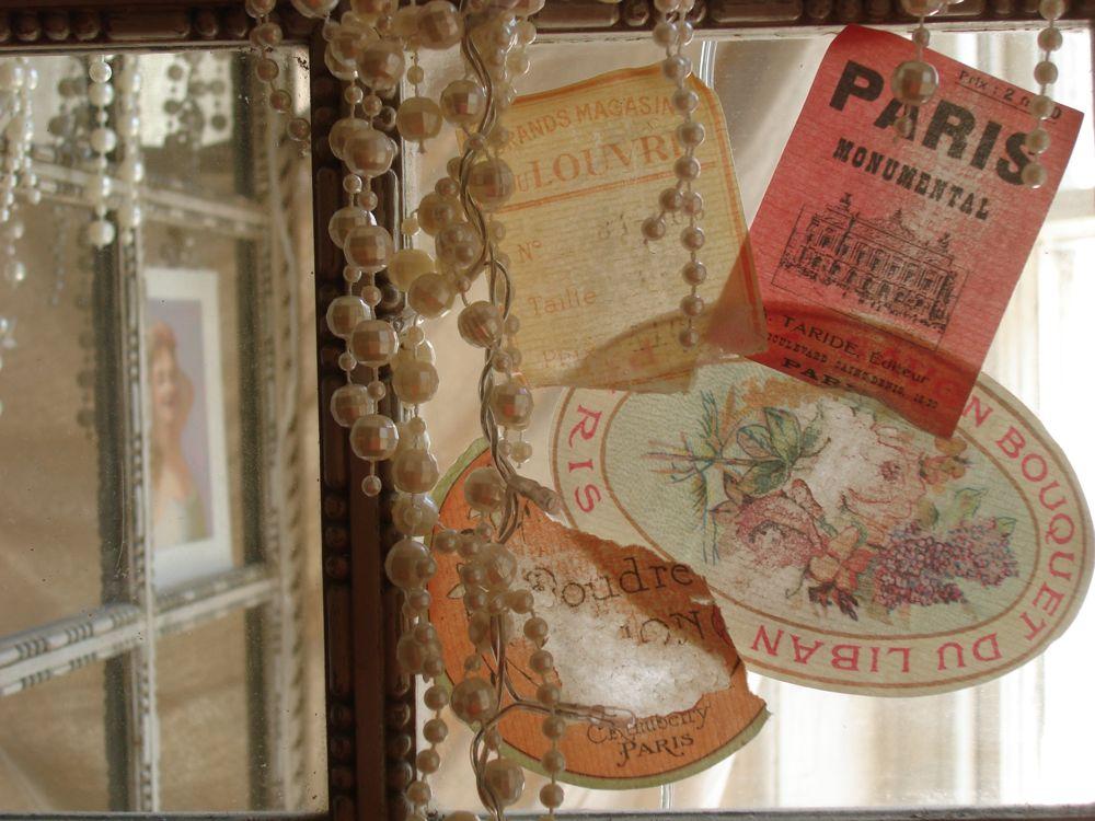 vintaged luggage labels