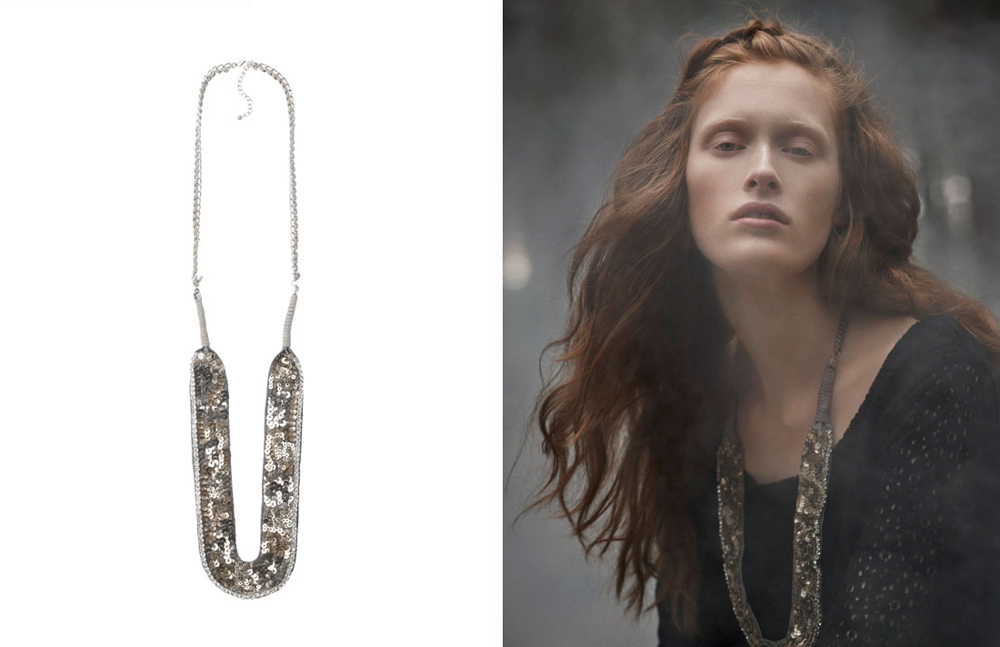 Sequin necklace from Toast