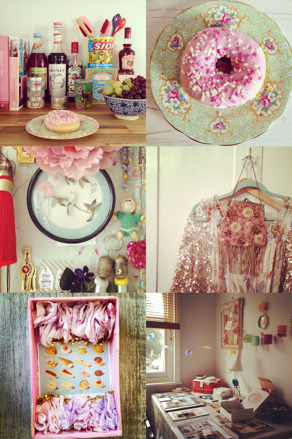Pretty pink interior styling