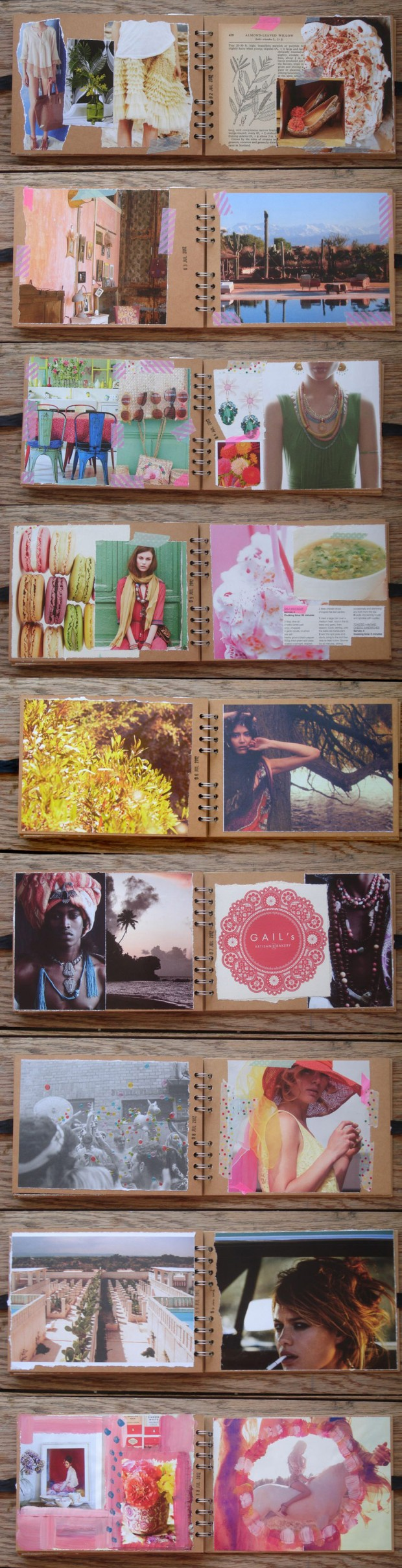 collage, journal, diary, visual,