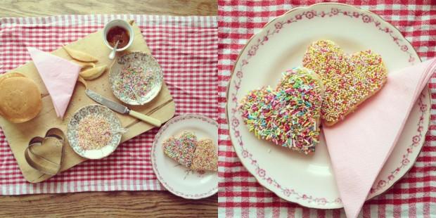 Sunday Pancakes with sprinkles