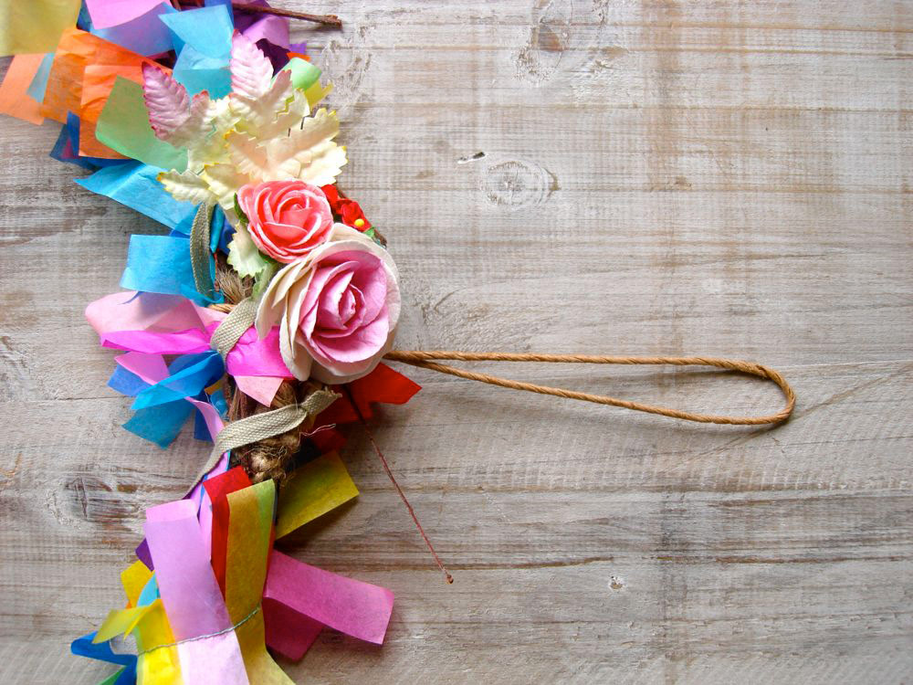 Handmade Confetti Wreath