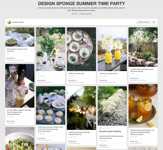 Design Sponge Pinterest Competition