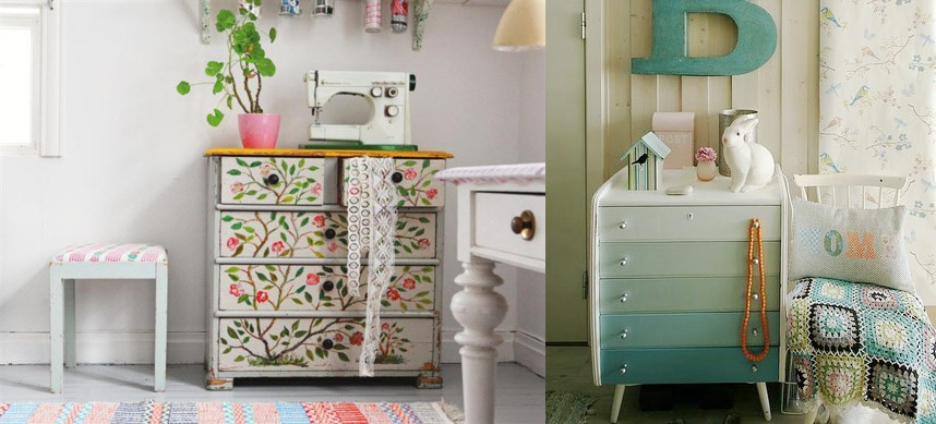Hand Painted furniture. HOW TO REDECORATE YOUR BEDROOM ON A BUDGET   Lobster and Swan