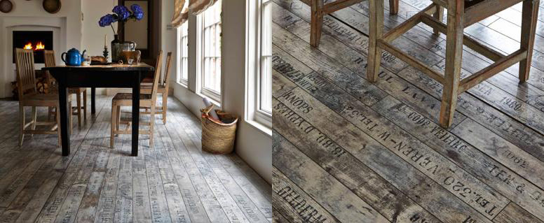 DECOR SOURCEBOOK RUSTIC FLOORING Lobster And Swan