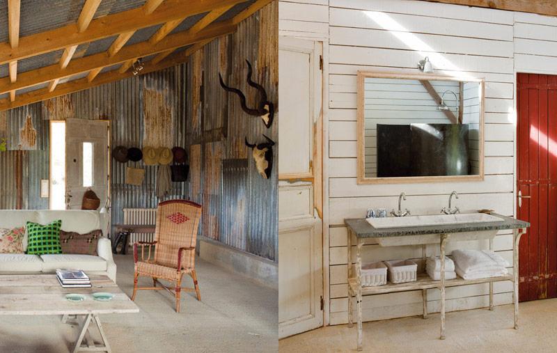 Rustic Interior Biarritz Cabin Lobster And Swan