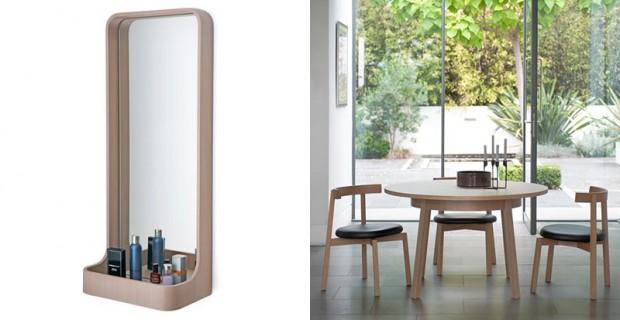 Okinami Round table and Loop Mirror