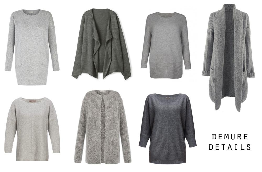 Detail grey jumpers