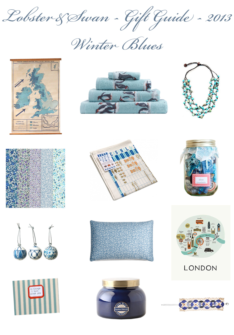 Gift Guide 2013 Winter Blues