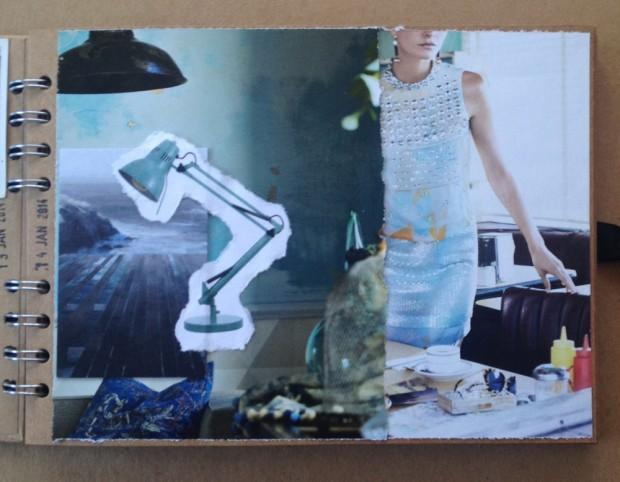 Visual journal scrapbook