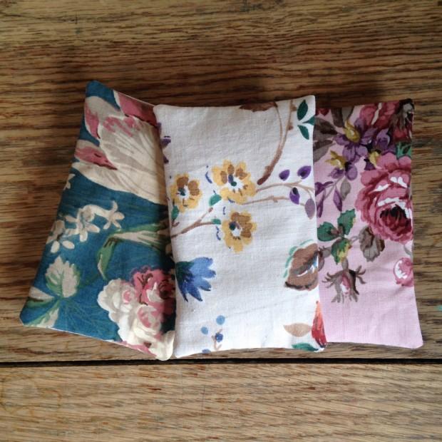 Vintage fabric lavender sachets