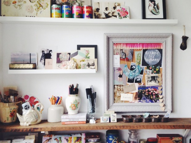 Vintage and Eclectic desk space