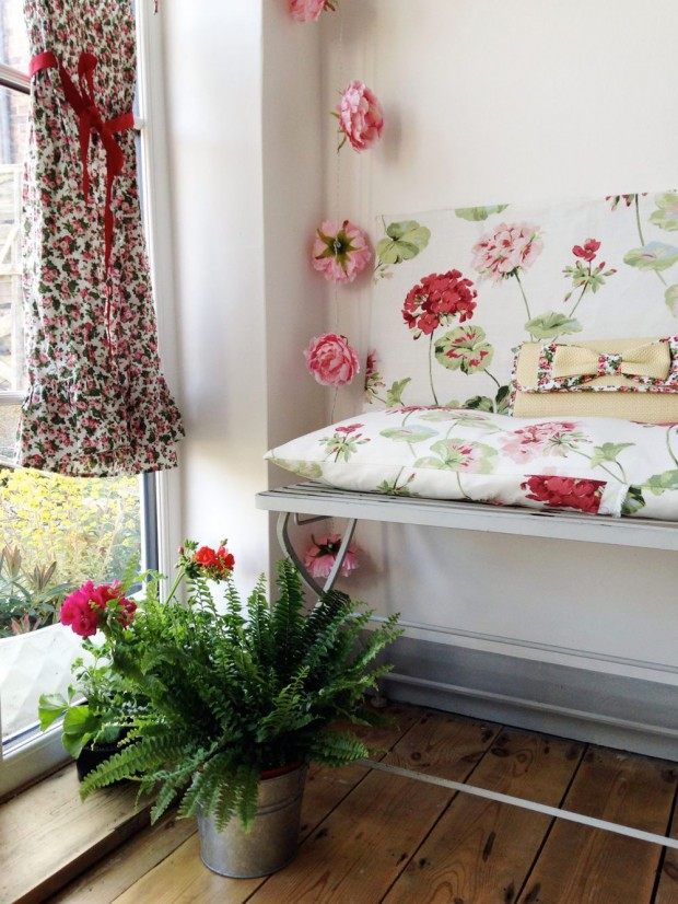 spring home makeover with laura ashley lobster and swan. Black Bedroom Furniture Sets. Home Design Ideas