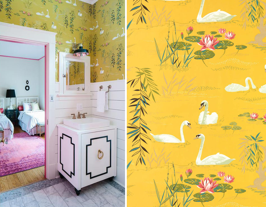 Obsessing Over Wallpaper Yet Again Lobster And Swan