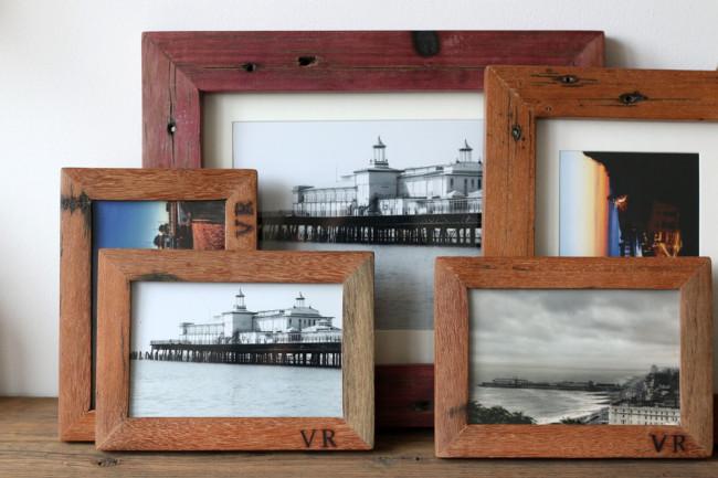 Reclaimed wood frames