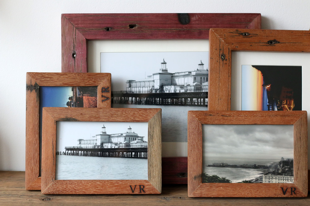 handmade wood picture frames handmade reclaimed wood frames lobster and swan 9466