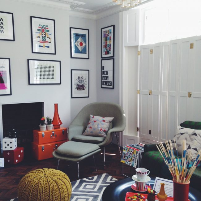 Eclectic lounge decor