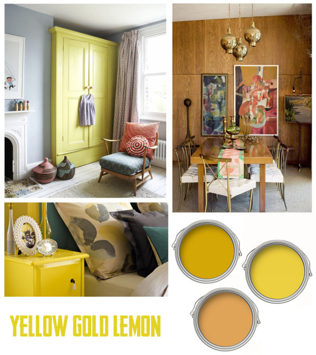 Interior Paint guide Gold and Yellow