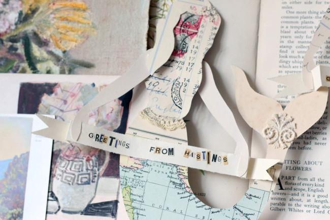 Handmade paper doll