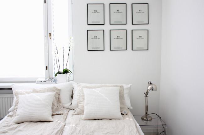 Scandi bedroom style