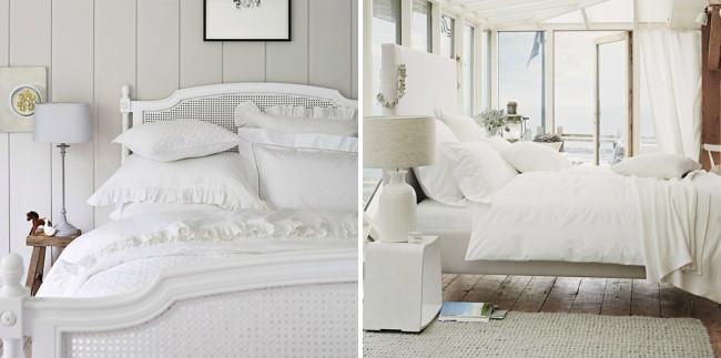 Pale bedding