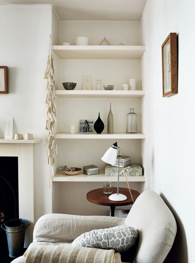 Rustic white interior styling