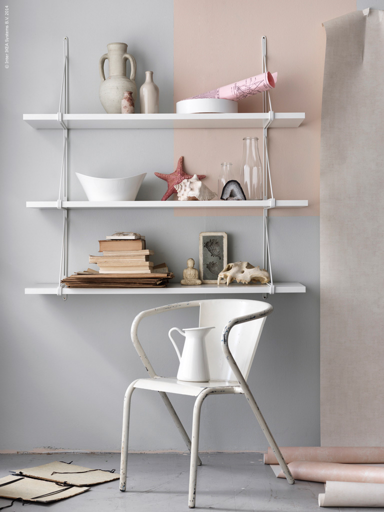 Chic Modern White Shelving Lobster And Swan