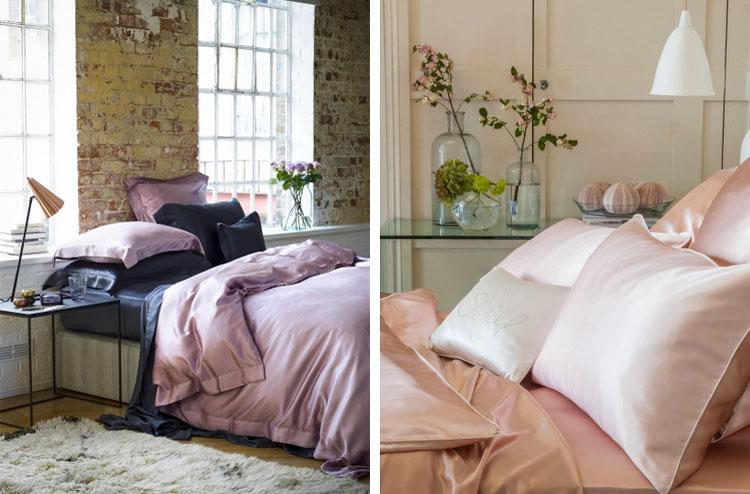 Silk bedroom decor