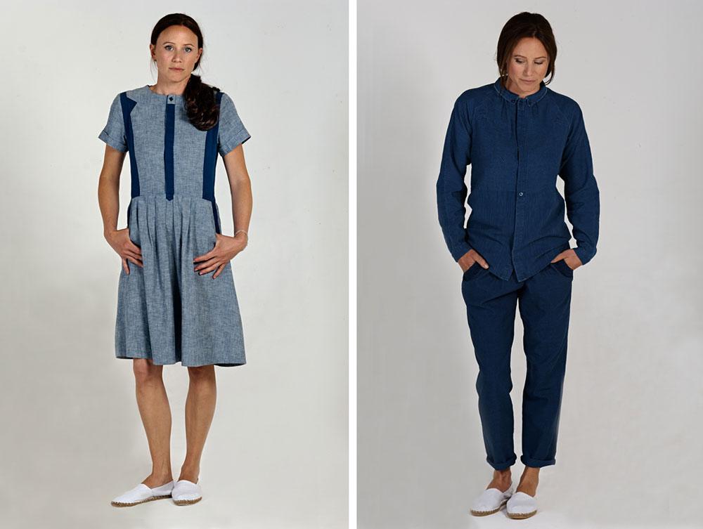 Indigo dyed fashion
