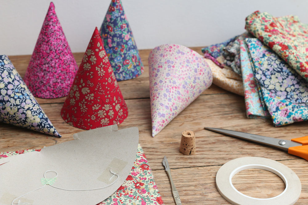 floral pattern party hats