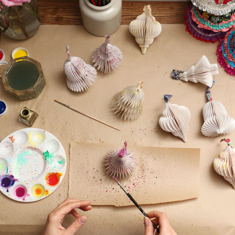 painting paper decorations