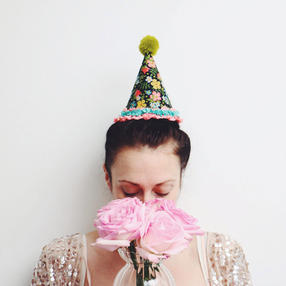 handmade paper party hats