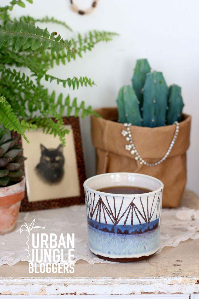 Urban Jungle Bloggers coffee and plants