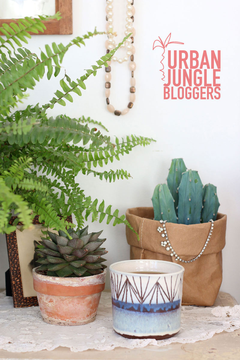 Urban Jungle Bloggers coffee and plants