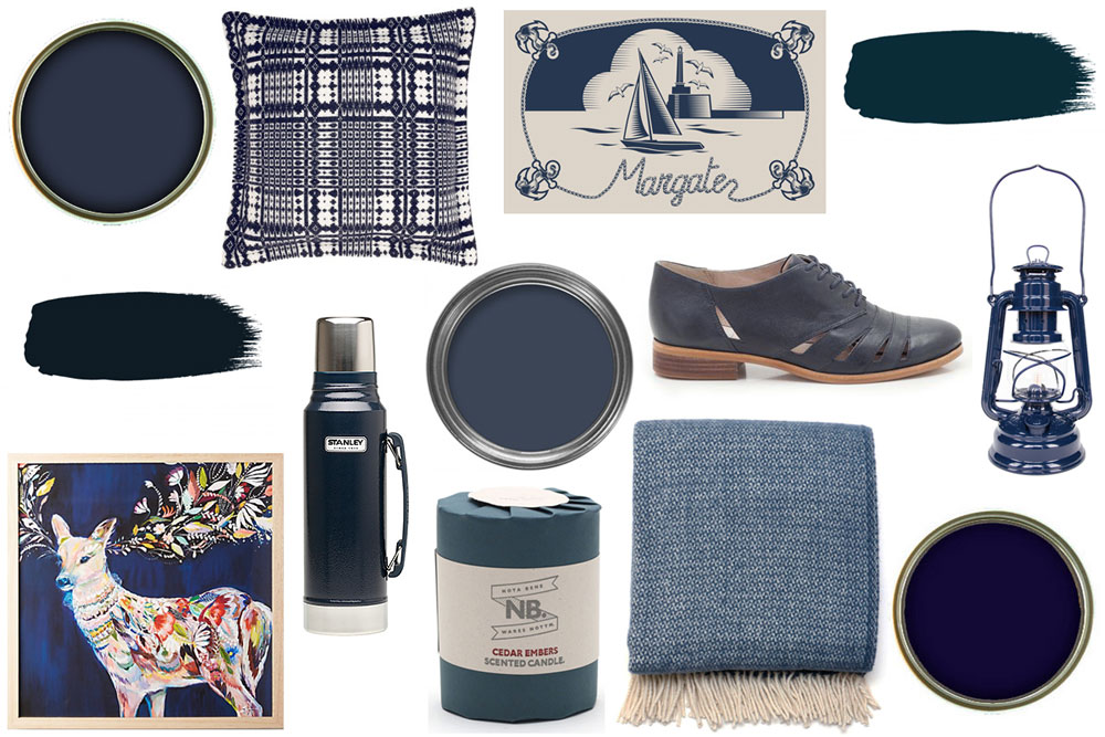 navy blue inspiration board