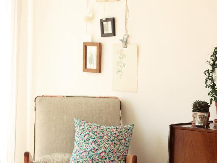 interior details liberty print cushion