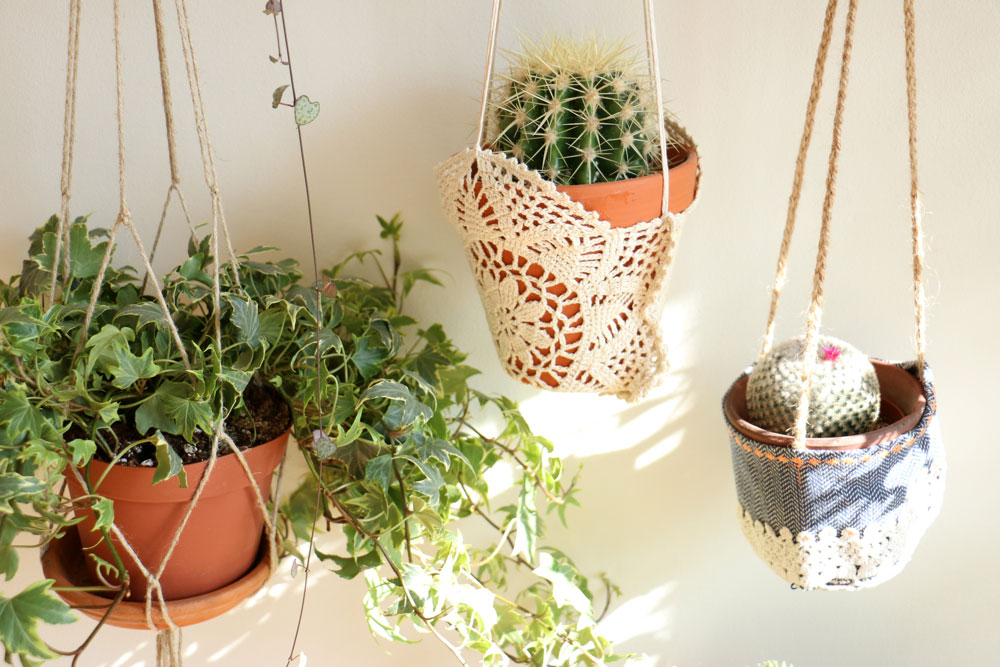 hand made plant hangers