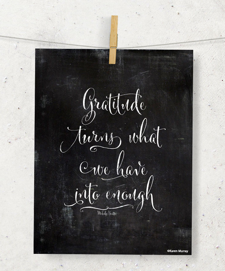 Gratitude Chalkboard