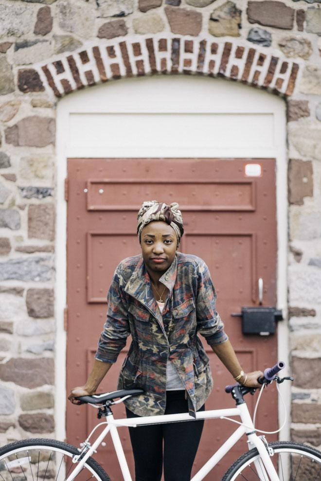Hip girls on bikes