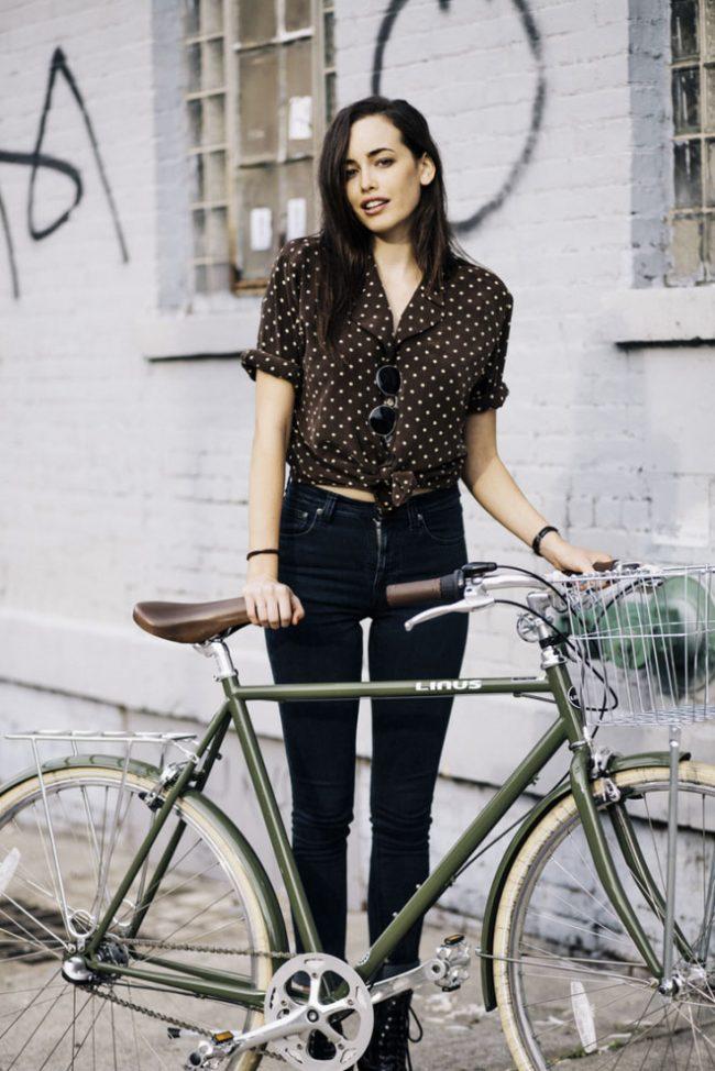 Cute girls on bikes