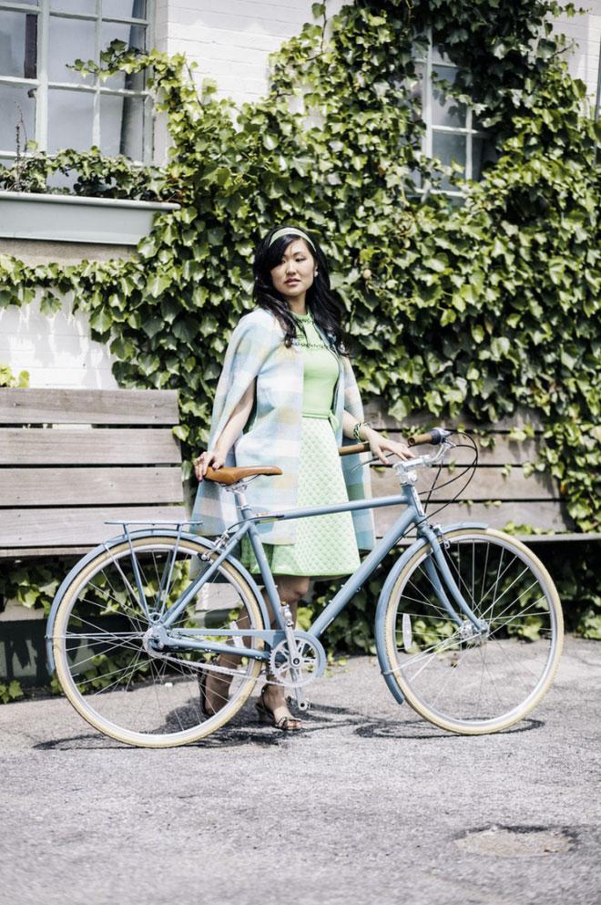 Chic girls on bikes