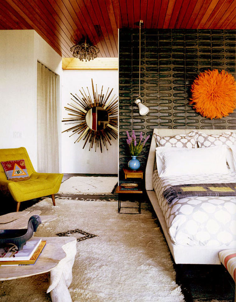 Mid century style bedroom inspiration