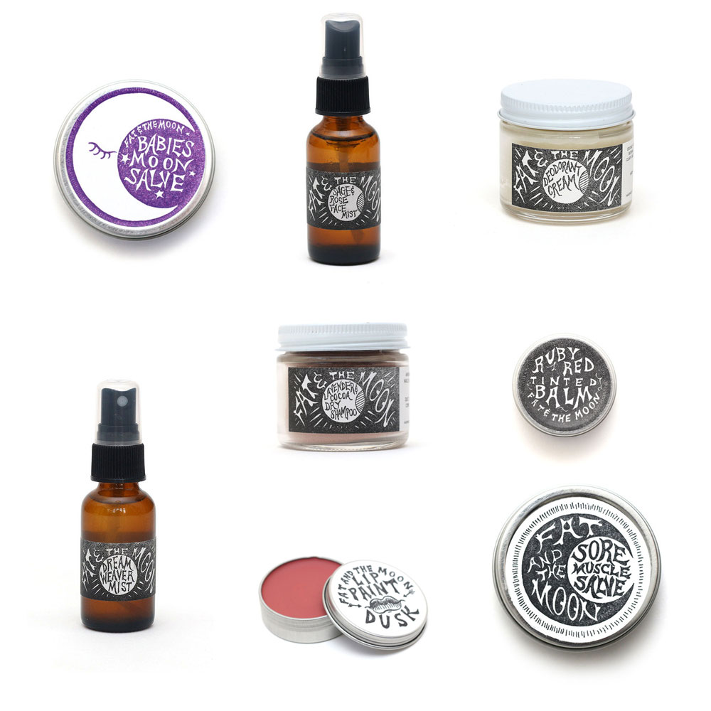 fat and the moon all natural beauty products