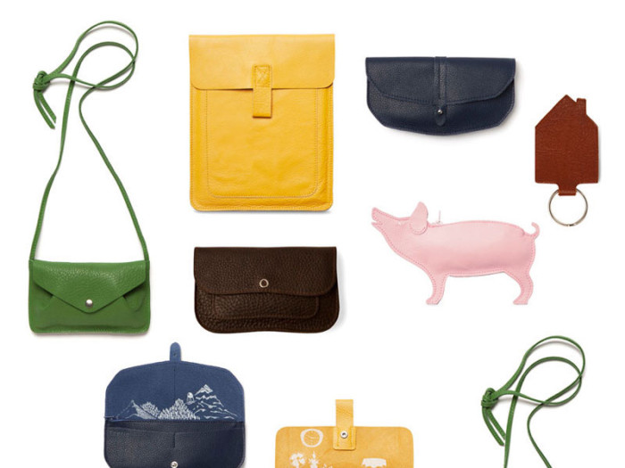 Keecie hand printed leather goods