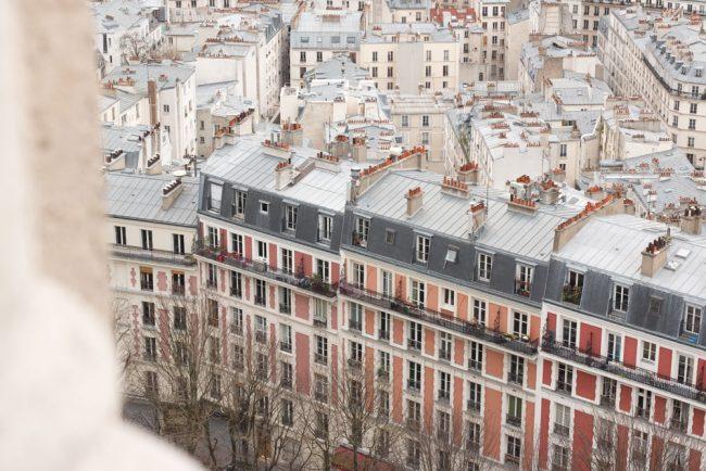 Pink houses in paris