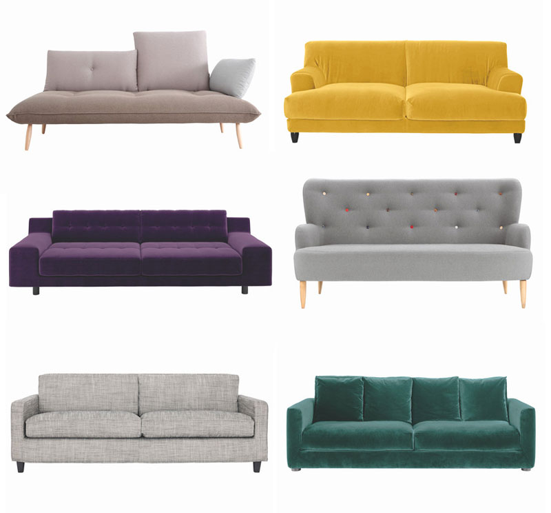 six sofa styles i 39 m loving now lobster and swan. Black Bedroom Furniture Sets. Home Design Ideas