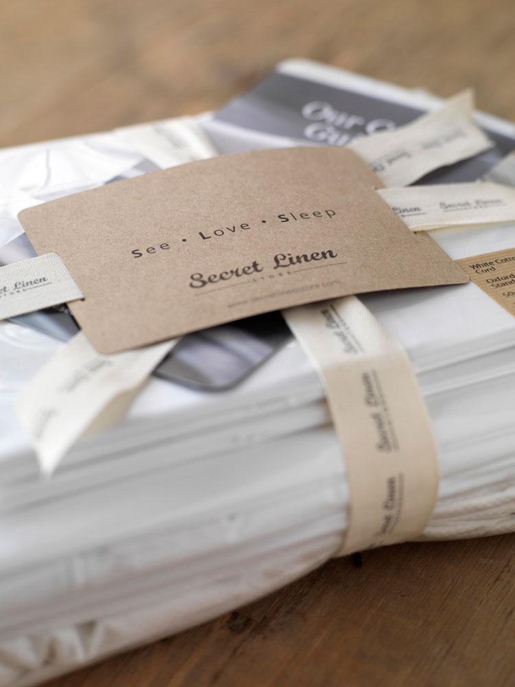 Secret linen store Packaging