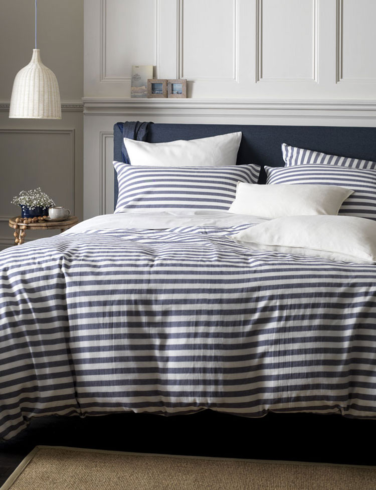 Blue White Gray Striped Pattern Quilted Bedspreads Set, Queen Size DOUH Jersey Knit Cotton Striped Duvet Cover Set, Ultra Soft 3 Piece Bedding Set Reversible Comforter Cover with Pillow Shams Light Brown Queen Size. by DOUH. $ $ 71 99 Prime. FREE Shipping on eligible orders.