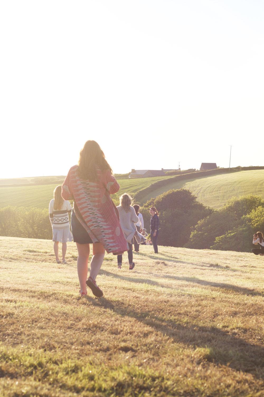 Sisterhood Camp 2015 Golden Hour North Devon